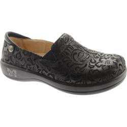 Women's Alegria by PG Lite Keli Pro Clog Black Embossed Paisley Leather