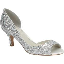 Women's Benjamin Adams London Divine Open-Toe Pump Ivory Duchesse Silk