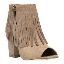 Women's Carlos by Carlos Santana Jasper 2 Peep-Toe Ankle Boot Dark Brulee Microfiber