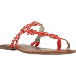 Women's Carlos by Carlos Santana Shelby Thong Sandal Spicy Coral
