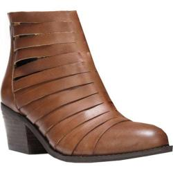 Women's Carlos by Carlos Santana Vanna Ankle Boot Cognac Leather