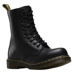 Dr. Martens 1919 10-Eye Steel Toe Boot Black Fine Haircell