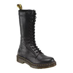 Women's Dr. Martens 1B99 14-Eye Zip Boot Black Virginia