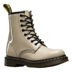 Women's Dr. Martens 1460 8-Eye Boot Porcelain Patent Lamper