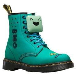 Dr. Martens Adventure Time Castel 8 Eye Boot BMO Turquoise T Canvas