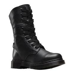 Women's Dr. Martens Aimilita 9-Eye Toe Cap Boot Black/Black Darkened Mirage