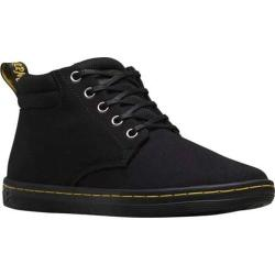 Women's Dr. Martens Belmont Padded Collar 5 Eye Boot Black Canvas/Game On Leather