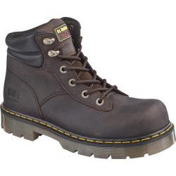 Dr. Martens Burnham Steel Toe 6 Tie Boot Gaucho Volcano Leather