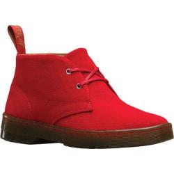 Women's Dr. Martens Daytona Chukka Boot Red Overdyed Twill Canvas
