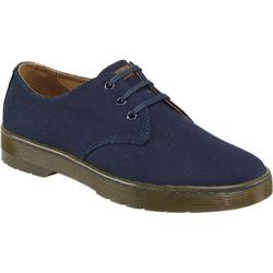 Men's Dr. Martens Delray 3 Eye Shoe Navy Overdyed Twill Canvas