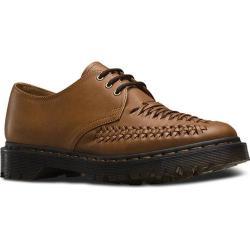 Men's Dr. Martens Ezra 3-Eye Shoe Brown Rugged Servo Lux