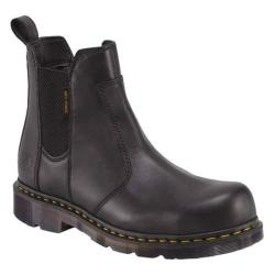 Dr. Martens Fusion Steel Toe Chelsea Boot Black Industrial Full Grain Leather