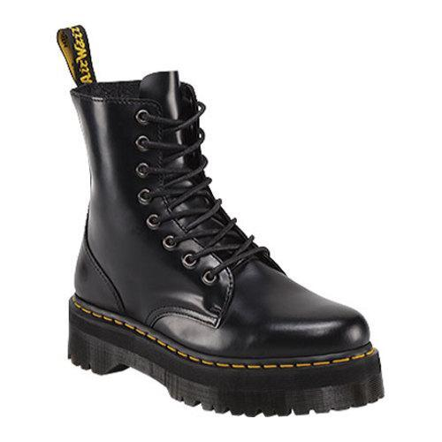 4f98b91ad7 Shop Dr. Martens Jadon 8-Eye Boot Black Polished Smooth - Free Shipping  Today - Overstock - 11941960
