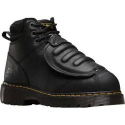 Men's Dr. Martens Ironbridge MG Steel Toe 8 Eye Industrial Boot Black Industrial Grizzly Leather