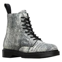 Dr. Martens Pascal 8-Eye Boot White/Black Painter Leather