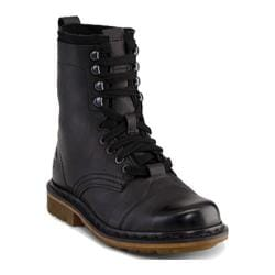 Men's Dr. Martens Pier 9 Tie Boot Black Polished Wyoming/Hi Suede WP