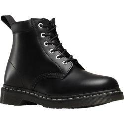 Dr. Martens Saxon 939 6 Eye Padded Collar Boot Black Smooth