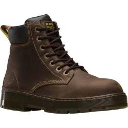 Men's Dr. Martens Winch Extra Wide Steel Toe 7 Eye Boot Dark Brown Wyoming Leather