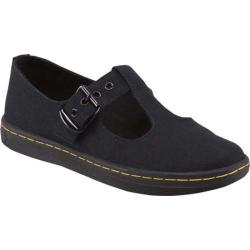 Women's Dr. Martens Woolwich T-Bar Black Canvas (More options available)
