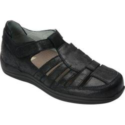 Women's Drew Ginger Fisherman Shoe Dusty Black Leather