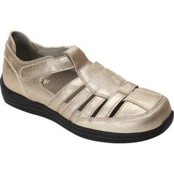 Women's Drew Ginger Fisherman Shoe Dusty Gold Leather