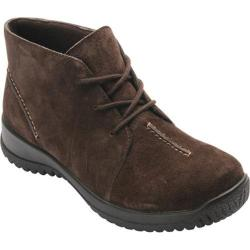 Women's Drew Krista Lace Up Bootie Brown Suede