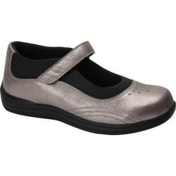 Women's Drew Rose Mary Jane Dusty Pewter Leather