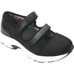 Women's Drew Solo Athletic Shoe Black Leather/Sport Mesh
