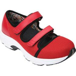 Women's Drew Solo Athletic Shoe Red Leather/Sport Mesh