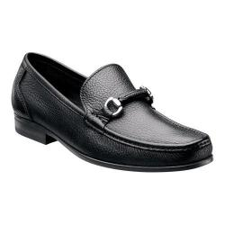 Men's Florsheim Felix Bit Loafer Black Tumbled Leather