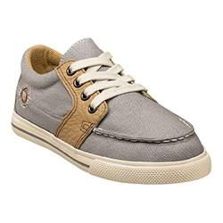Boys' Florsheim Flash 4-Eyelet Oxford Jr. Gray Canvas/Leather