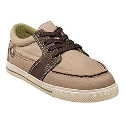 Boys' Florsheim Flash 4-Eyelet Oxford Jr. Tan Canvas/Leather
