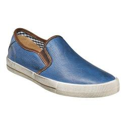 Men's Florsheim Flash Plain Toe Slip On Blue Milled Leather
