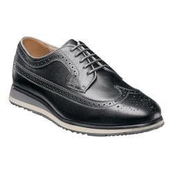Men's Florsheim Flux Wing Tip Oxford Black Milled Leather