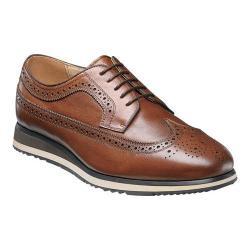 Men's Florsheim Flux Wing Tip Oxford Cognac Milled Leather