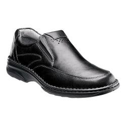 Men's Florsheim Getaway Moc Slip Black Milled Leather