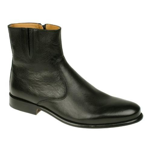 Men's Florsheim Hugo Ankle Boot Black Soft Milled Leather...