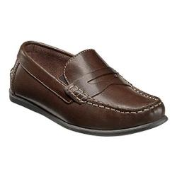 Boys' Florsheim Jasper Driver Jr. Brown Leather