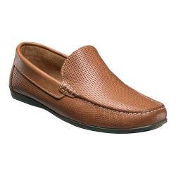 Men's Florsheim Jasper Perforated Slip-On Cognac Smooth Leather