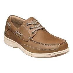 Men's Florsheim Lakeside Ox Boat Shoe Brown Crazy Horse Leather