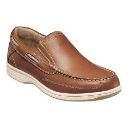 Men's Florsheim Lakeside Slip Saddle Tan Milled Leather