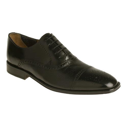 Men's Florsheim Otavio Cap Toe Oxford Black Deerskin/Calf Leather