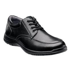 Men's Florsheim Pacer Moc Lace Up Black Tumbled Leather