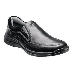 Men's Florsheim Pacer Moc Slip Black Milled Leather