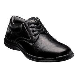 Men's Florsheim Pacer Plain Oxford Black Tumbled Leather