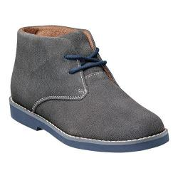Boys' Florsheim Quinlan Jr. Gray Suede with Navy Sole