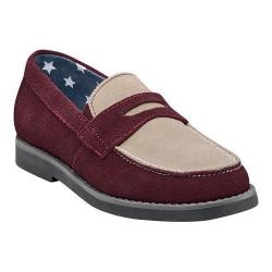 Boys' Florsheim Rodeo Penny Jr. Raisin/Tan Suede with Stone Sole