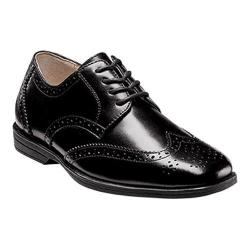 Boys' Florsheim Reveal Wingtip Jr. Black Leather