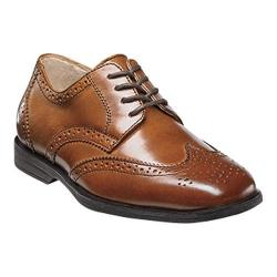 Boys' Florsheim Reveal Wingtip Jr. Cognac Leather
