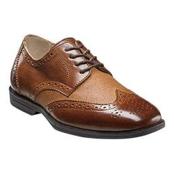 Boys' Florsheim Reveal Wingtip Jr. Cognac Linen/Leather
